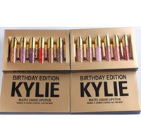 Wholesale Huda beauty Kylie Jenner Limited Birthday Edition Kylie Matte liquid Lipstick mini gold kylie lip kit