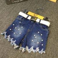 Cheap Kids Pants Ripped Jeans Children Shorts Korean Girl Dress 2016 Spring Summer Shorts Denim Shorts Child Clothes Kids Clothing Lovekiss C24047