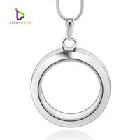 al por mayor aleación de zinc encantos flotante-30 mm redondo de plata de vidrio flotante magnético encanto medallón de aleación de zinc (incluidas las cadenas de forma gratuita) LSFL02-1