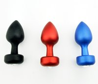 Wholesale Metal Whole Body Black Red Blue Anal Plug BONDAGE FETISH Middle Size Hot Gay BDSM A028