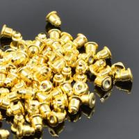 Wholesale 100pcs bag Metal Ear Post Bullet Earplug Back Earring Ear Studs Stopper Gold Silver Jewelry Findings