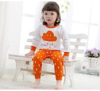 baby sleeping suits - 3 colors Ins kids pijamas baby girl clothing sets boys Clouds homewear cotton Long sleeve Top trouser suit sleeping wear