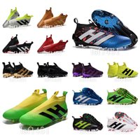 green shoelaces - 2016 New original mens No shoelaces high ankle fooTbaLls bOOTs ACE purECOntROl AG FG soccer shoes ACE NSG sOcCEr cLEAts