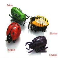 baby creativity - 2016 Hot electronic toy Simulation insect cicada beetles Interesting creativity Electric crawl toy Baby toys gifts for kids