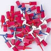 Wholesale New set Pack Plastic Bristles Golf Brush Tees Driver Training Bristle Tee mm H210794