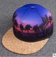 artificial definition - summer baseball cap hat D heat transfer high definition digital printing coconut hat men women PU leather stitching hip