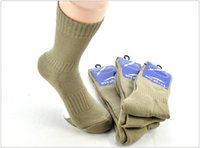 Wholesale 5pairs Men Army Green Cool Socks Winter Strong Soldier Socks Outdoor Warm Sock Stretch Sport Calze