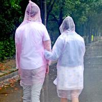 Wholesale 1 Waterproof Disposable Adult Emergency Raincoat Poncho Hood Travel Camping must Rain Coat Unisex