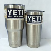 Wholesale 304 Stainless Steel OZ OZ OZ YETI vacum Yeti Cooler cup Rambler Tumbler Cup Vehicle Beer Mug Double Wall Bilayer Vacuum Insulated