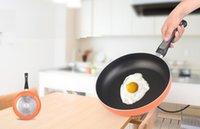 al por mayor aluminum cooker-De aluminio antiadherente para freír tortilla sartén los 26CM no hay gas cocina de humos wok de gas universal Cocinas