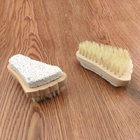Wholesale Foot Cares Supply Feet Pedicure Scrubber Natural Pumice Stone Rid Callus Skin Care Foot Brush Stone Wood Brush DHL