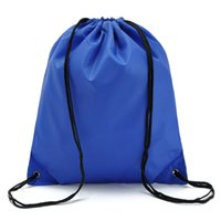 Wholesale Oxford Cloth Drawstring Backpacks Outdoor Travel Camping Drawstring Bags Hit Sports Pack Beach Swimming Cloth Shoes Storage Bags Pure Color