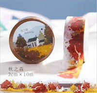 Wholesale mm Wide Autumn Maple Leaf Forest Washi Tape Adhesive Tape DIY Scrapbooking Sticker Label Masking Tape