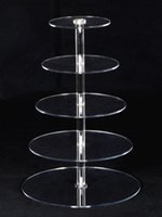acrylic cake display stands - Cupcake Stand Birthday Wedding Display Tiers Crystal Clear Acrylic Round Cake
