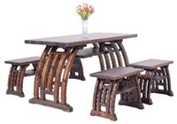 Wholesale Outdoor Furniture Wooden Coffee Table And Chairs Garden Set