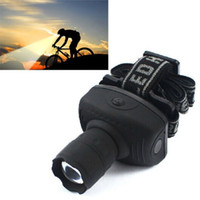 achat en gros de caché pour les phares-Lampe de poche 600Lumen CREE LED Lampe de poche à phare Lanterne frontale Zoomable Head Torch Light Bike Riding Lamp for Camping Hunting