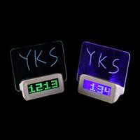 Wholesale LED Light Fluorescent Message Board Digital Alarm Clock Calendar electronic desktop Digital table clocks despertador