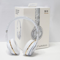 Wholesale NEW Arrival Uesd Solo2 Monkey Year special edition headphones solo2 bluetooth wireless with retail box package by DHL fast Drop shipping