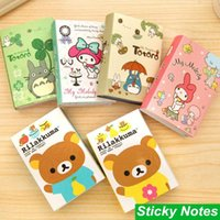 Wholesale Cute Rilakkuma fold N time posted sticky notes Post it notepad Melody totoro paper stationery Office School supplies