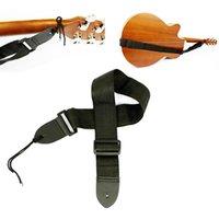 Wholesale Folk wooden guitar nylon Guitar Straps use for Electric Bass folk guitar shoulder strap wood bass brace