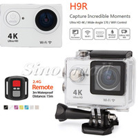 Wholesale Ultra HD k G Remote WIFI HDMI Action Camera H9R Degree Waterproof M Mini Sports DV For Exploration
