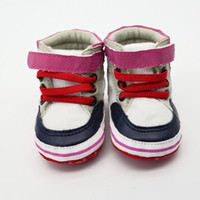 baby jogger red - Fashion Sweet Baby Unisex Antiskid PU Leather Lace Up Soft Prewalker Crib Shoes Joggers