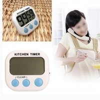 electronic clock timer - New LCD Digital Count Up Down Kitchen Cooking Timer Magnetic Electronic Alarm despertador desktop clock with kickstand Free DHL shpping