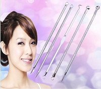 Wholesale 5PCS set Face Skin Care Stainless Steel Blackhead Blemish Acne Pimple Extractor Remover Kit Tool Cleanser Beauty