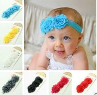 bamboo edge banding - 2016 Free postage Europe and America wool flower baby hair bands three sunflowers flower hair band children headdress broken edges