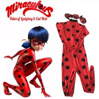 lady bug - The Miraculous Ladybug Cosplay Costume Halloween Kids Girls Ladybug Marinette Child Lady Bug Spandex Full Lycra Zentai Suit