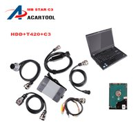 Wholesale Star C3 Tester - Latest 2016.03 Top Rated Mercedes Tester MB Star C3 full set with 4GB I5 T420 Laptop installed well DAS +Xentry + WIS + EPC+Sd