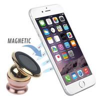 Wholesale Magnetic Mobile Phone Navigation Holder K Gold Metal Plating Degree Rotation Multifunctional For Car Bedroom Shower Room Office