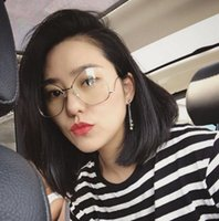 Wholesale Copper frame glasses lens Han edition fashion thin face ball suffix frames