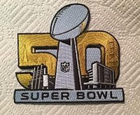 Wholesale Super Bowl Jersey Patch Superbowl L Embroidered Patch Iron Sew On th champion super bowl patch a pack