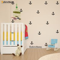 anchor wall stickers - 11Pcs Little Anchor Wall Sticker DIY Baby Nursery Rooms Home Decor Art Removable Vinyl Mural Wallpaper For Kids Bedroom