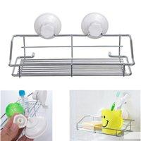 baskets for shelves - Excellent Quality Bathroom Kitchen Strong Suction Cup Metal Holder Storage Basket Shelve Organizer Fit For Collection