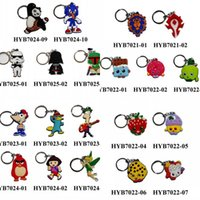 batman keyring - Mixed Star Wars Inside out Batman Mickey superman Cartoon Keyrings Keychains Kawaii Keyfob soft PVC key chains Cartoon Character Key Chains