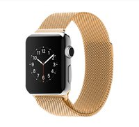 band loops - Hot Apple Watch mm mm Milanese Loop Magnetic Band Link Bracelet Stainless Steel Strap Watchband Gold Silver Black