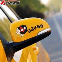 Kucar coche espejo retrovisor pegatinas pegatinas de dibujos animados lindos bloqueo decorativo arañazos pegatinas personalizadas coche impermeable