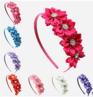 baby silk sale - Hot sale Infant Polygonal flower hair band satin headbands colors Baby Girls Satin Hair hoop Infant Hairband Children s hair accessories