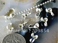 Wholesale 500pcs x4 mm Sterling Silver Plated Solid Brass Clamshells Knot Covers Finding jewelry findings mm cup