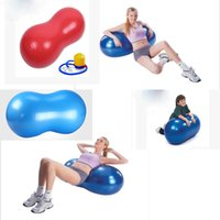 Wholesale 2015 new hot cm sports fitness gym exercise training yoga ball pilate explosion proof peanut shape durable