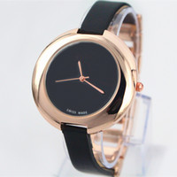 Wholesale Fashion Women Leather Watch Top Brand Rose Gold luxury lady Watch Japan movement Box