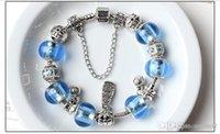 azure patterns - 2016 DIY Christmas Azure Lovers Bracelet Fashion Spiral Pattern Diamond Bracelet Silvering Alloy Bead Bracelet PDL Christmas