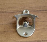 Wholesale 30pcs Stainless Steel Iron Hot Fashion Stainless Steel Wall Mount Bar Beer Soda Glass Cap Bottle Opener Kitchen Tool