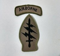 airborne tab - US Army Airborne SSI Special Forces Tab Command Sew On Patch Shirt Trousers Vest Coat Skirt Bag Kids Gift Baby Decoration