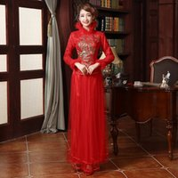 Cheap 2016 New Spring Cheongsam Latest Spring Bride Bright Dress Style Shelves Thick Spring Dress Beautiful Tight Eye-contracting Graceful B-1804