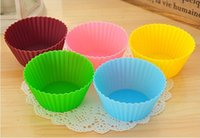 Wholesale 7cm Silica gel Liners baking mold silicone muffin cup baking cups cake cups cupcake