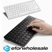 Wholesale Ultra slim Wireless Keyboard Bluetooth for Apple iPad iPhone Series Mac Book Samsung Phones PC Computer High Qualit