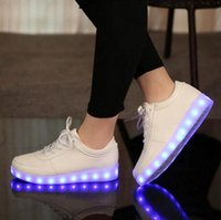 Wholesale 2016 Women Colorful glowing shoes with lights up led luminous shoes a new simulation sole led shoes for adults neon casual shoes